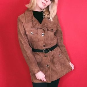 VTG 60s-70s Suede Jacket w/ Psychedelic Lining